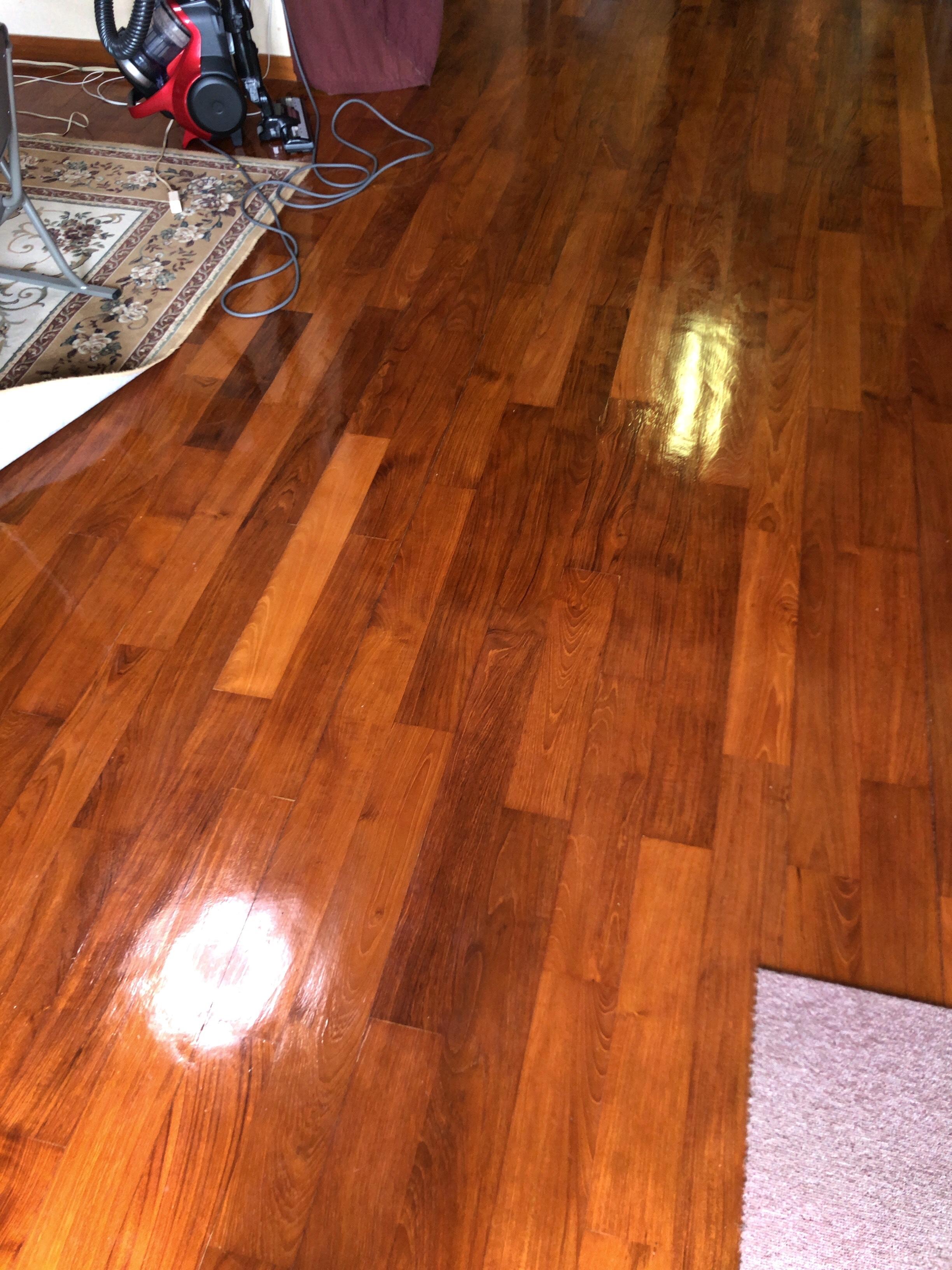 床 ワックス 塗布 ♩