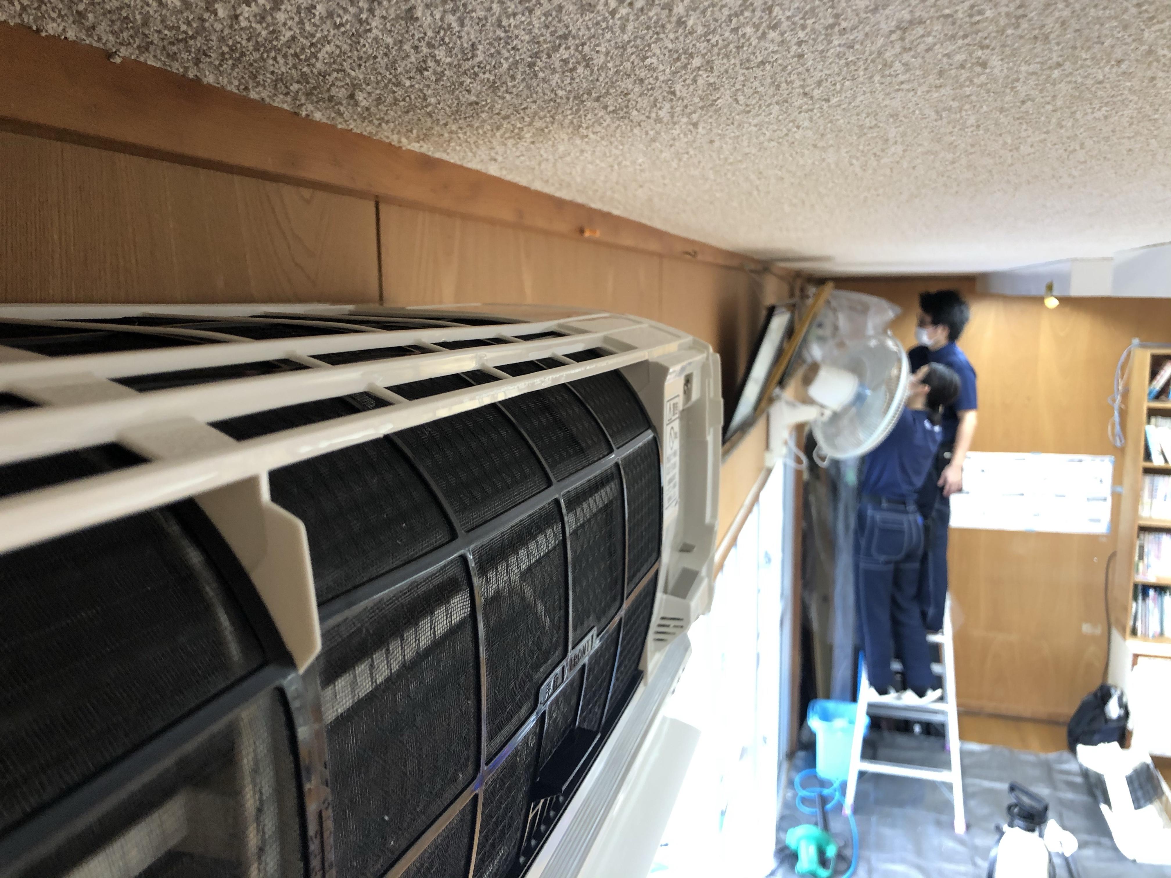 清掃 壁掛け エアコン 分解 洗浄