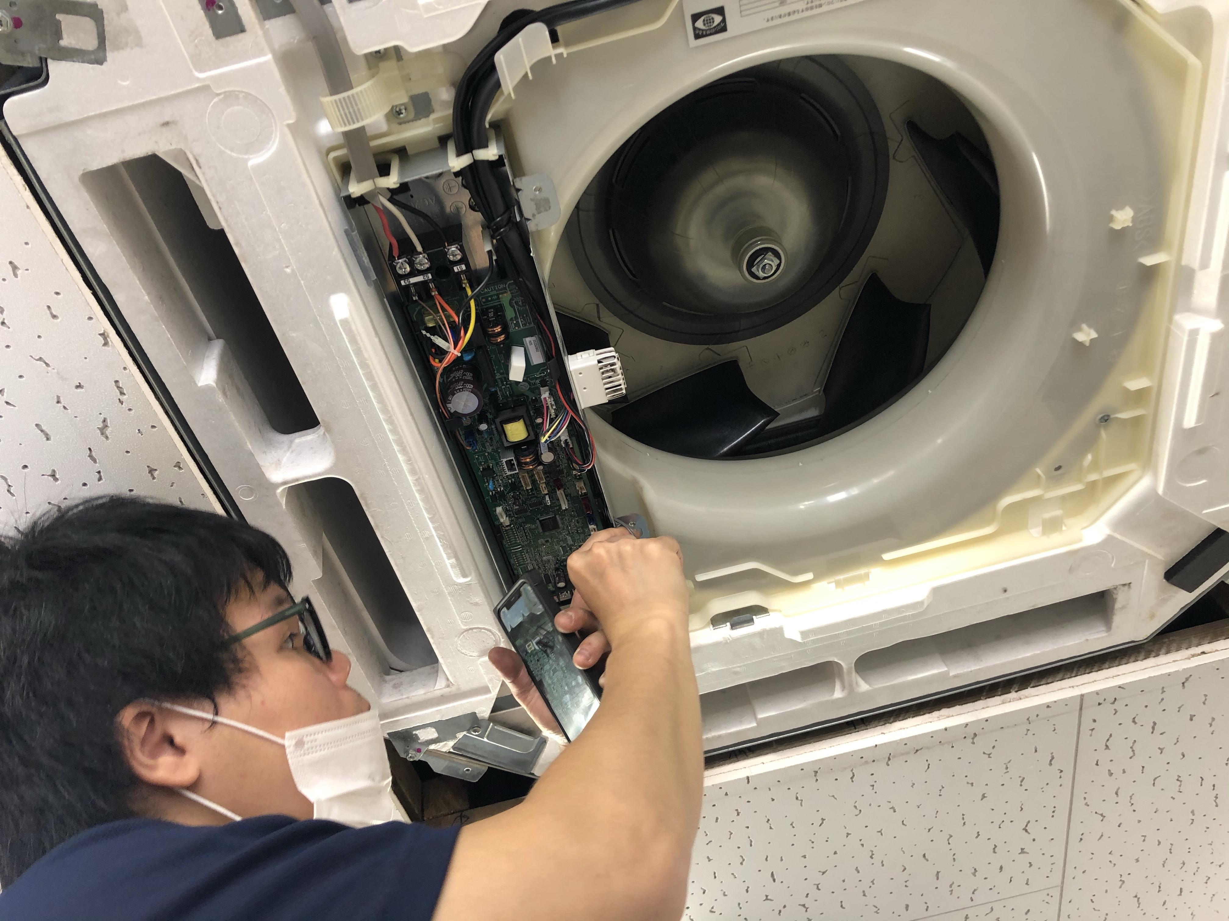 天井埋込カセット形4方向業務用エアコン 分解 取付