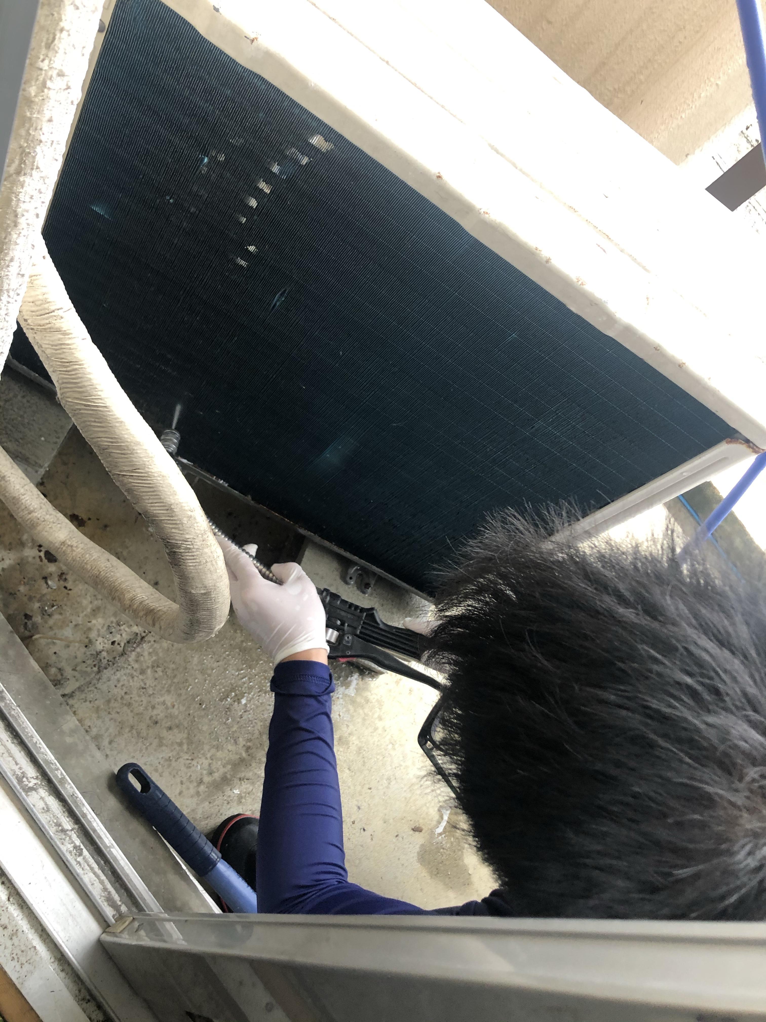 壁掛け エアコン スタンダード 分解 洗浄 室外機 高圧洗浄